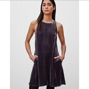 Wilfred ARITZIA Trompette Sleeveless Velvet Dress